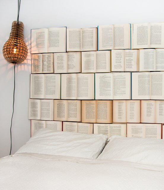 bedroom book headboard