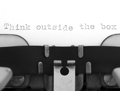 think outside the box typewriter