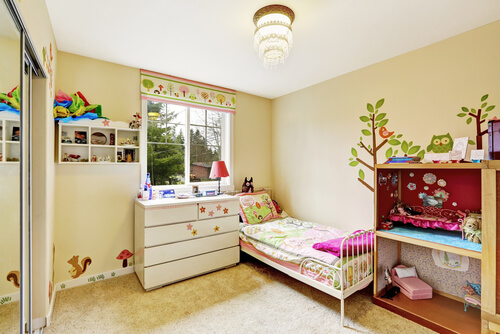 clean bright kids room