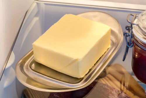 butter in fridge