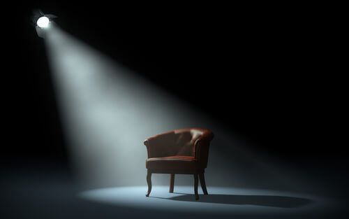 chair in the spotlight
