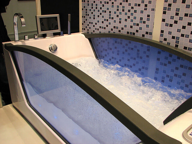 modern transparent bathtub