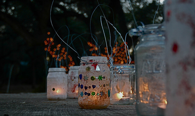 homemade jar lanterns