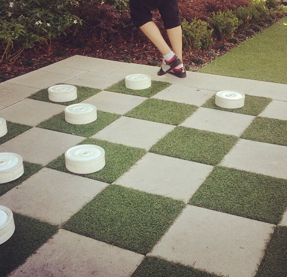 backyard checkers