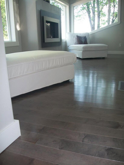 stained maple hardwood flooring charcoal