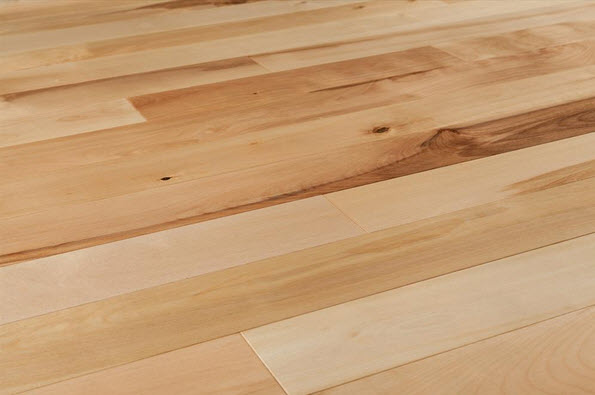 birch hardwood floor close up