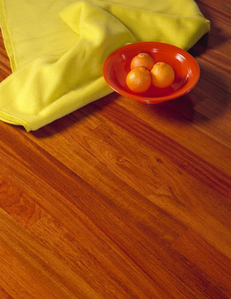 jatoba wood floors bowl of oranges