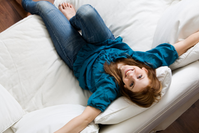 woman happy living alone