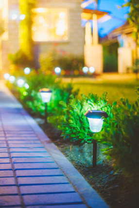 solar lighting path