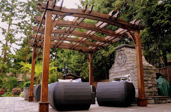 pergola and patio furniture